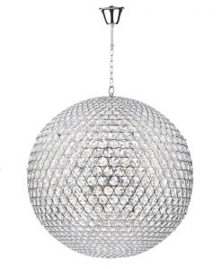 FIE1250 Fiesta 12 Light 90cm Ball Pendant in Polished Chrome