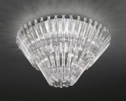 FL2231/12 Imagine 12 light two-tired flush, chrome & crystal
