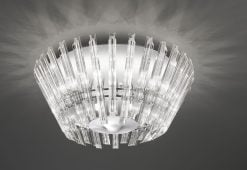 FL2231/8 Imagine 8 light flush, chrome & crystal