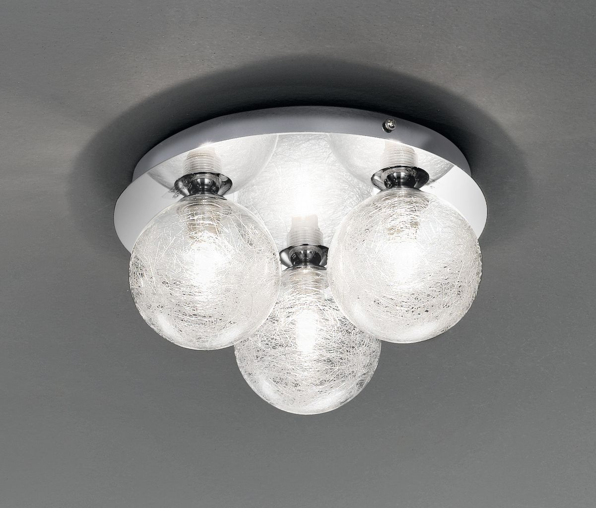 FL2312/3 3 light bathroom light on a circle backplate, chrome and ...
