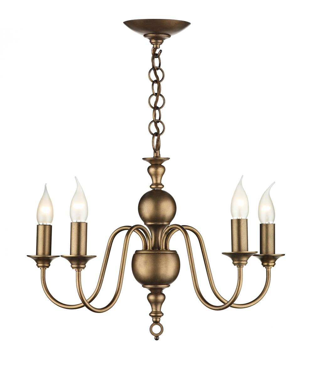 David Hunt Lighting FLE0563 Flemish 5 Light Pendant in Matt Bronze (Fitting Only)