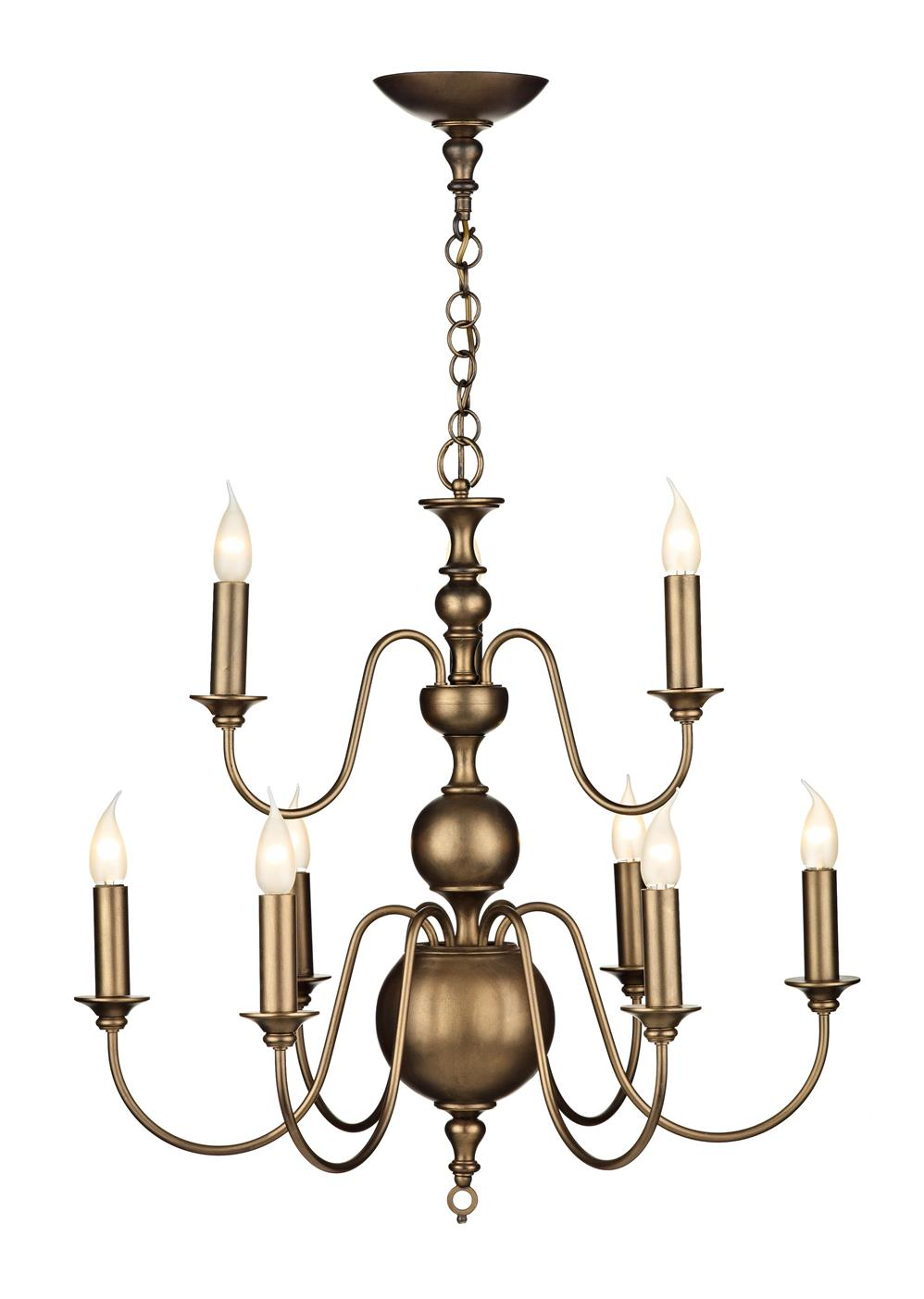 David Hunt Lighting FLE1363 Flemish 9 Light Pendant in Matt Bronze (Fitting Only)