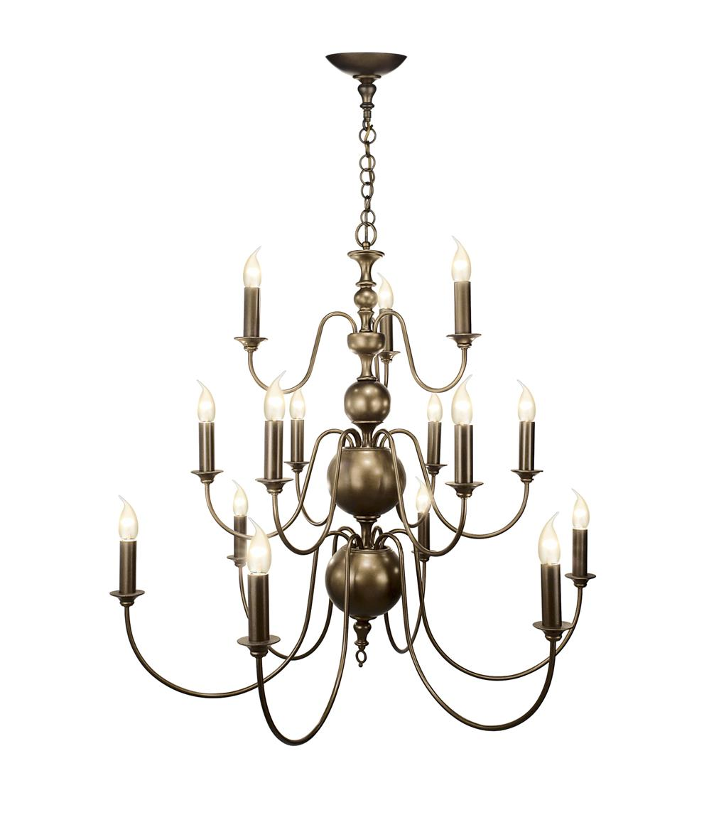 David Hunt Lighting FLE1563 Flemish 15 Light Pendant in Matt Bronze (Fitting Only)
