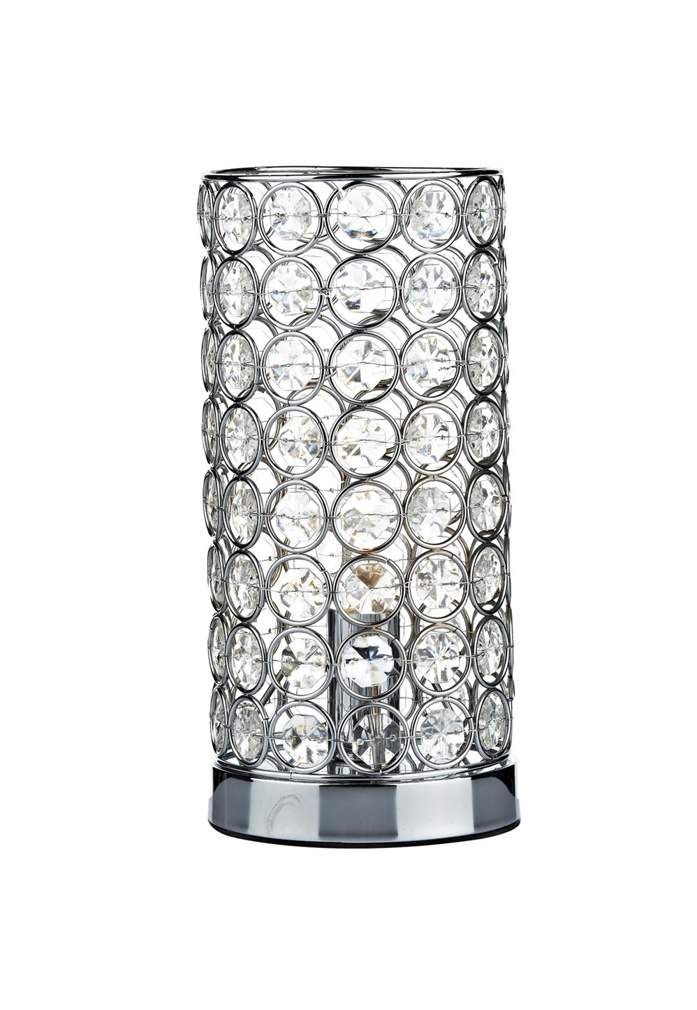 Dar FRO4250 Frost Touch Table Lamp in Chrome