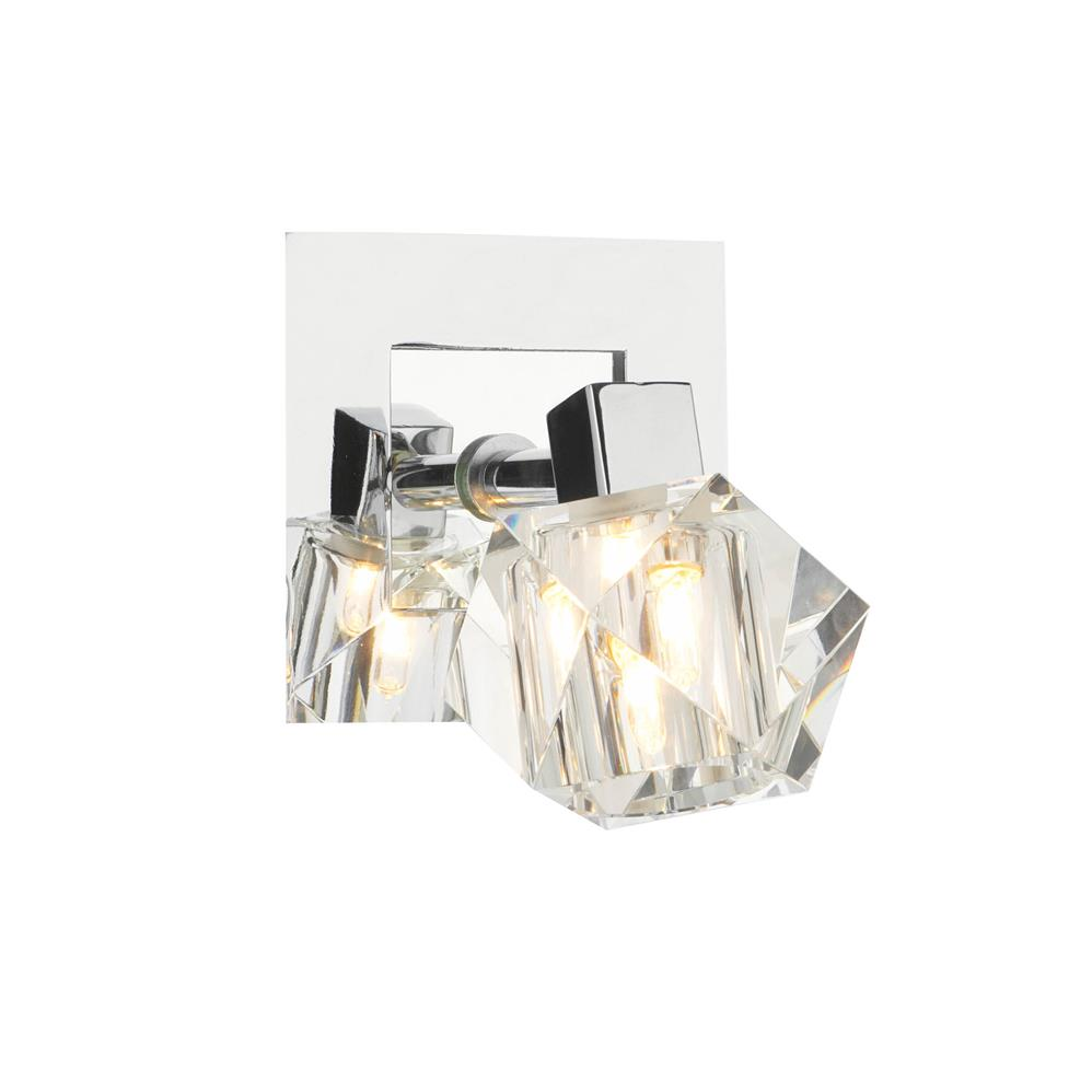 Dar GEO0750 Geo 1 Light Wall Light in Polished Chrome