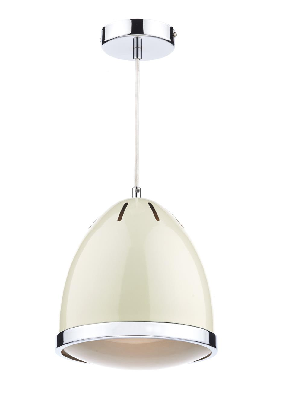 Dar GOM0133 Gomez  Single 1 Light Pendant in Cream