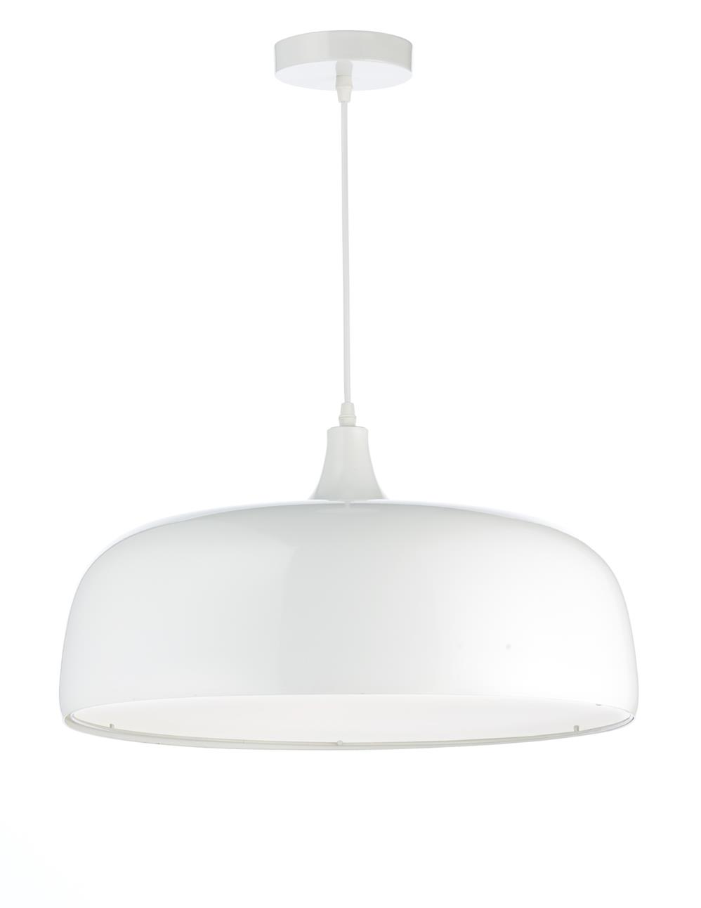 Dar GOW022 Gower 2 Light Pendant in White.