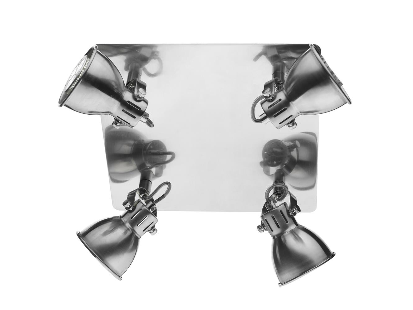 Dar IDA8546 Ida 4 Light Square Plate in Nautural Chrome