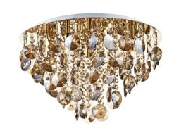JES5440 Jester 5 Light Flush Fitting in Antique Gold