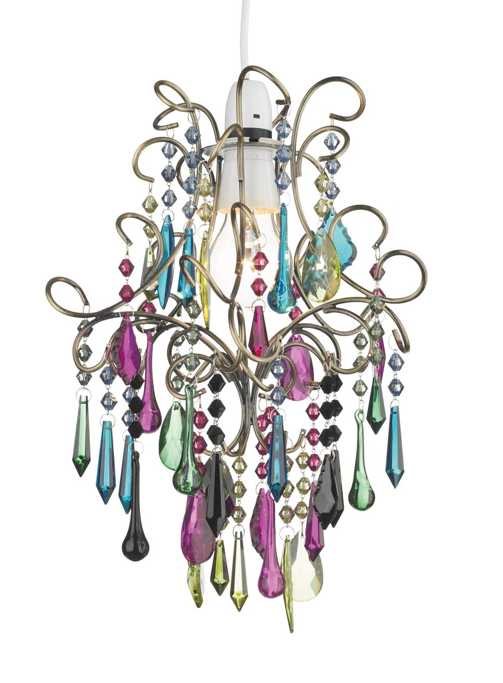 Dar JOD65 Jodi Non Electric Pendant with Multi Coloured Drops