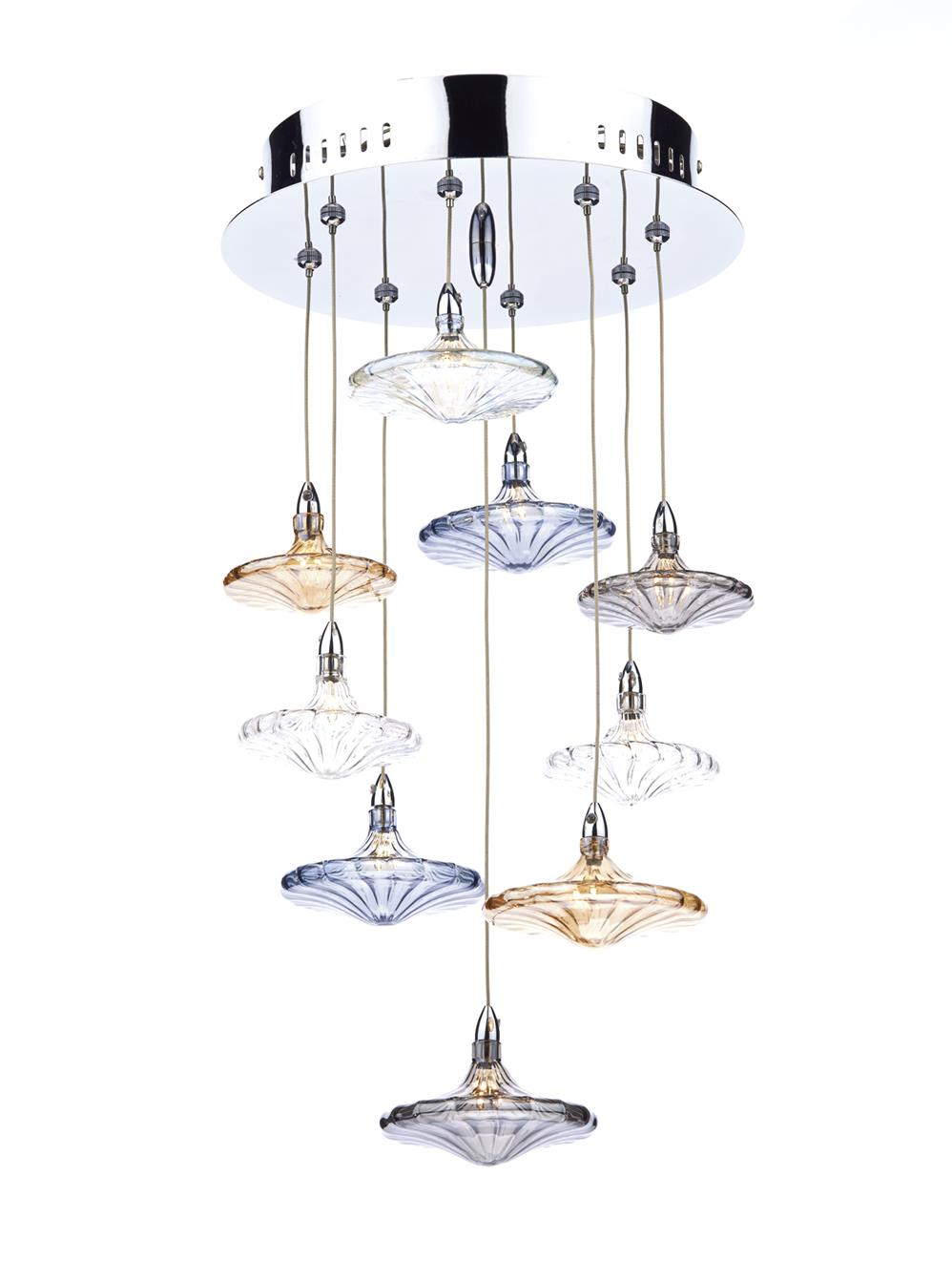 Dar JUL191 Juliette spare CLEAR glass shade for JUL1350