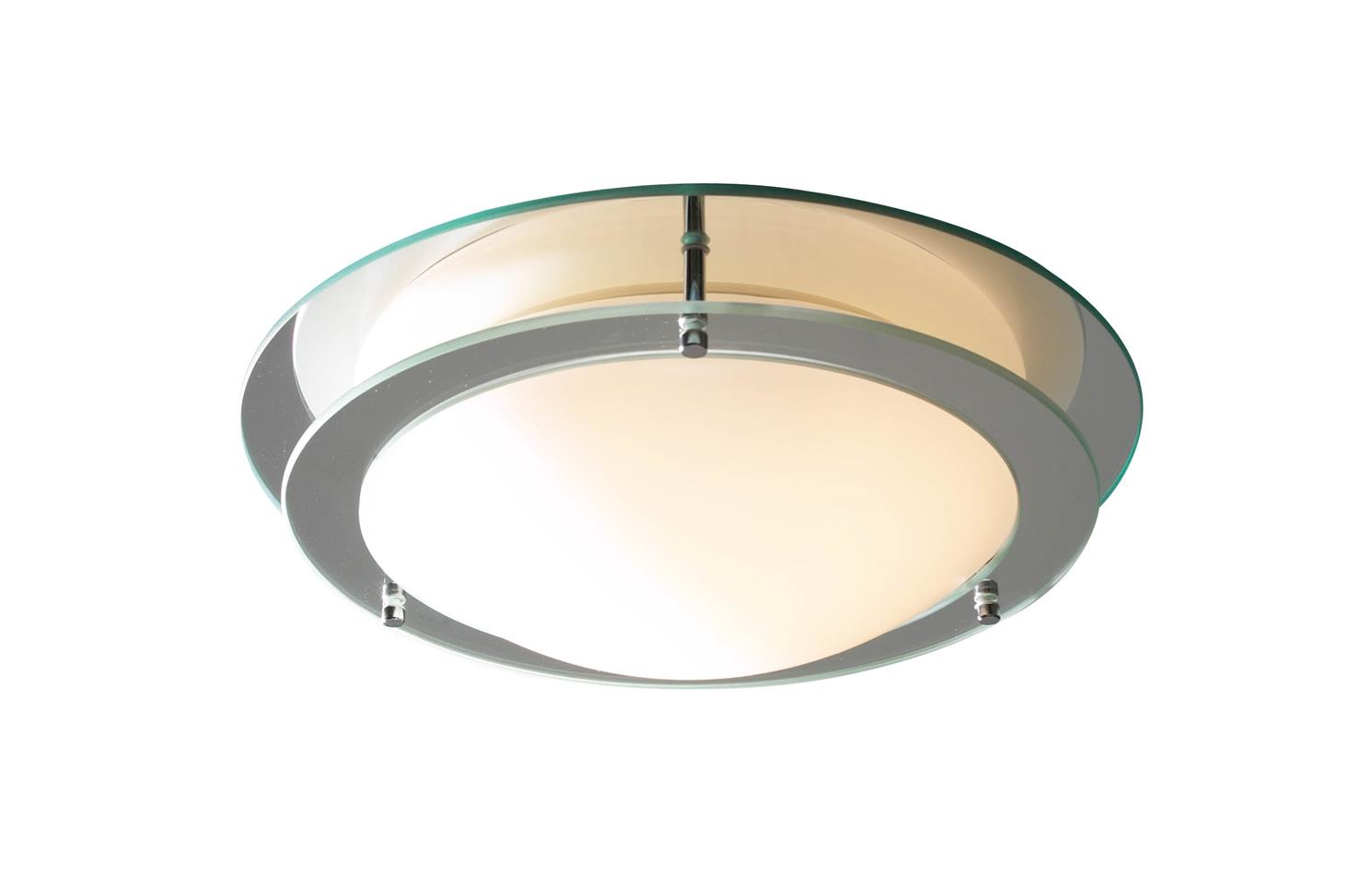Dar LIB50 Libra Bathroom Flush Fitting in Mirrored & Chrome