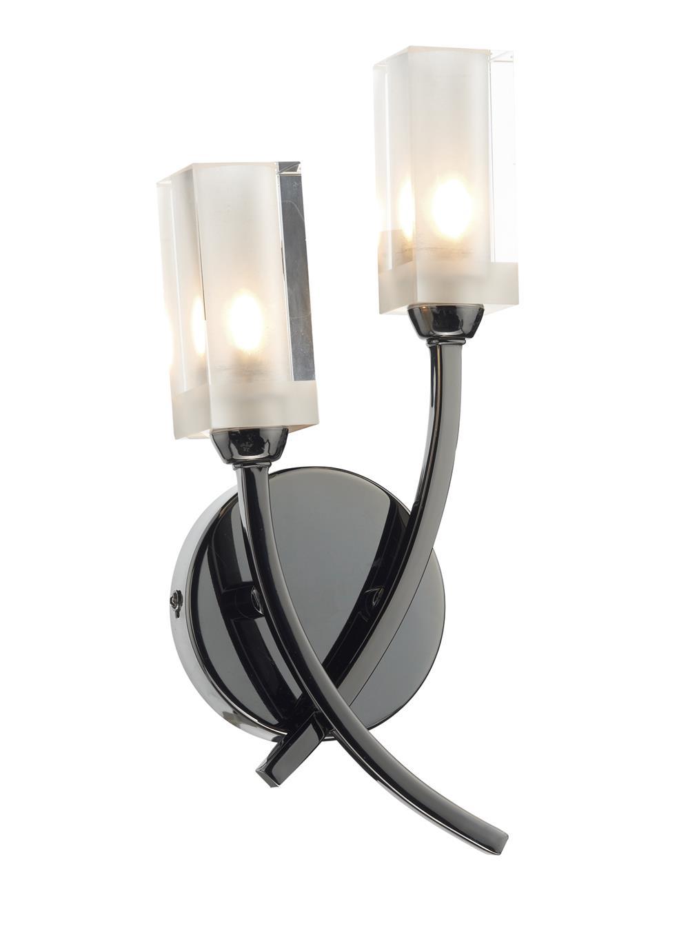 Mor0967 morgan double wall light in black chrome lighting bug swindon mor0967 morgan double wall light in black chrome aloadofball Gallery