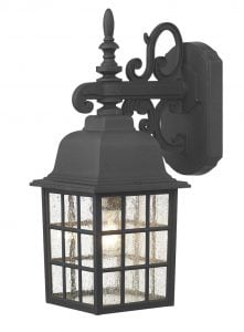 NOR1522 Norfolk Outdoor Down Wall Light in Black