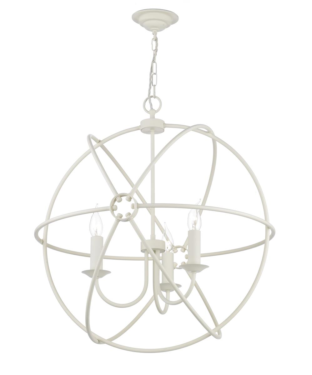 David Hunt Lighting ORB0333 Orb 3 Light Pendant in Cream Finish