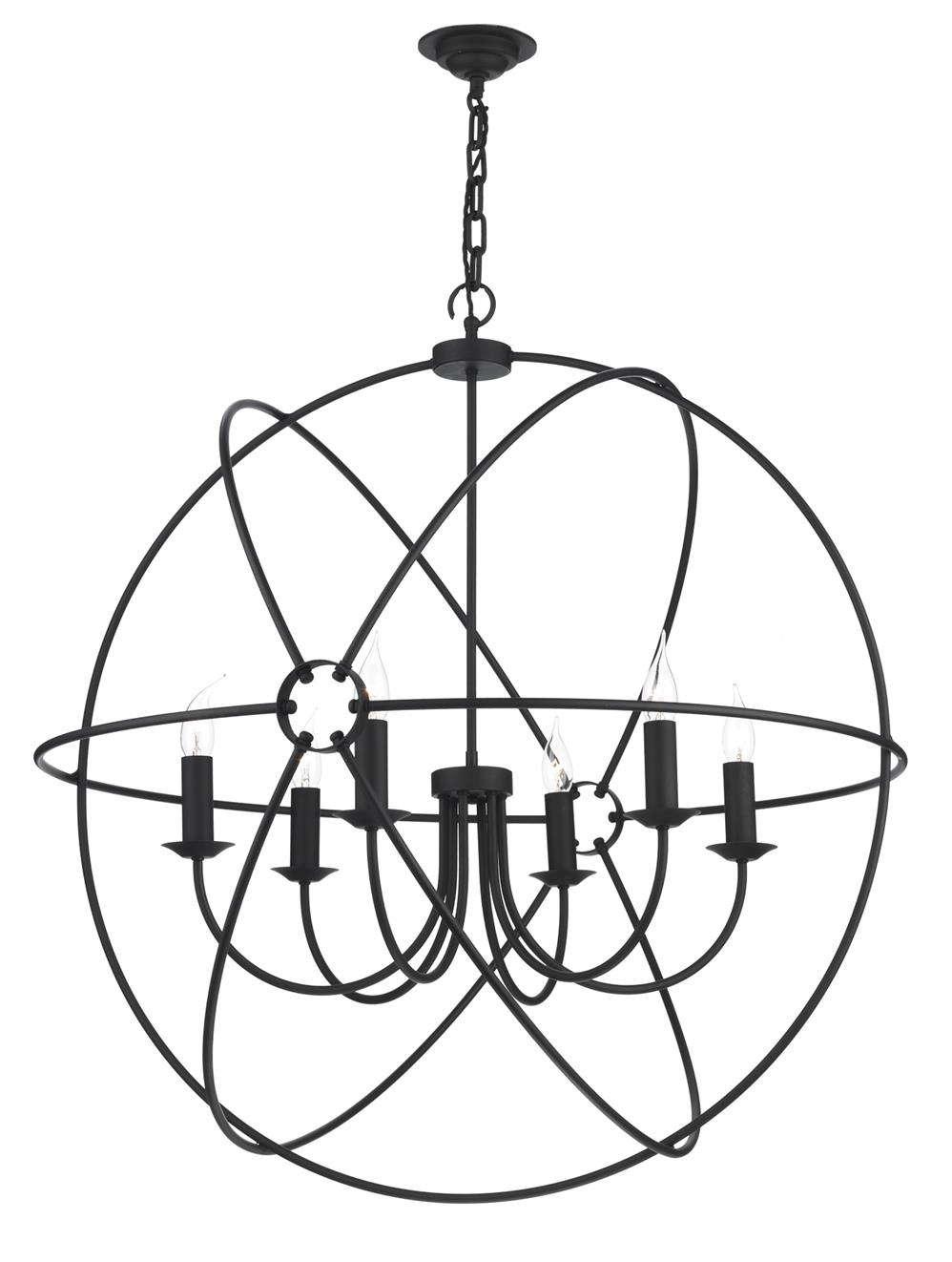David Hunt Lighting ORB0622 Orb 6 Light Pendant in Black Finish