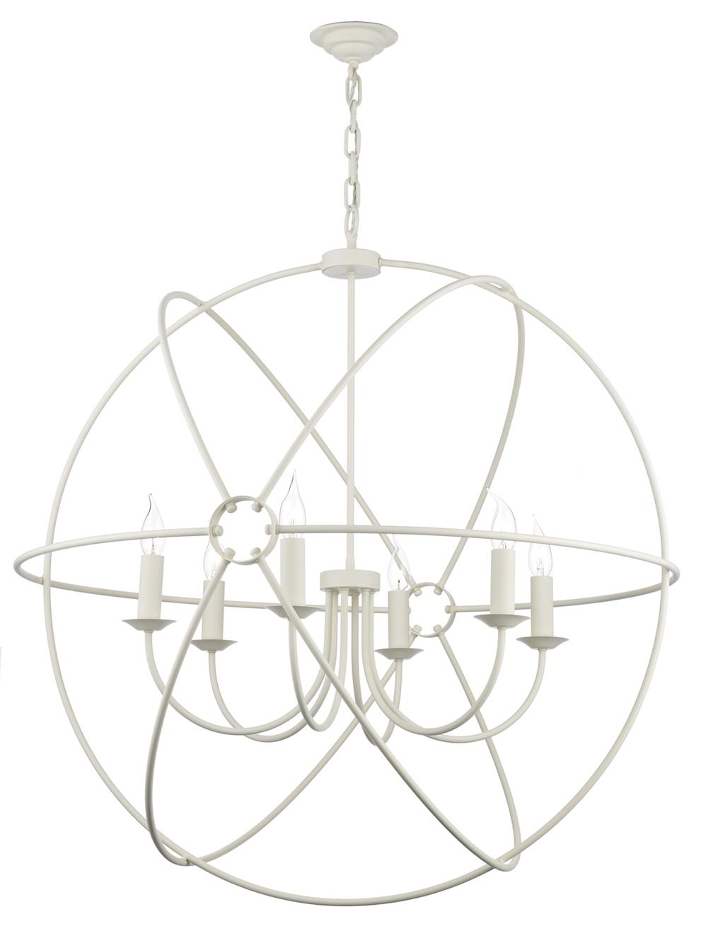 David Hunt Lighting ORB0633 Orb 6 Light Pendant in Cream Finish