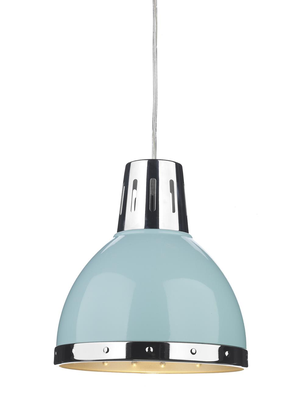 Dar OSA6523 Osaka Easy Fit Pendant Shade in Pale Blue
