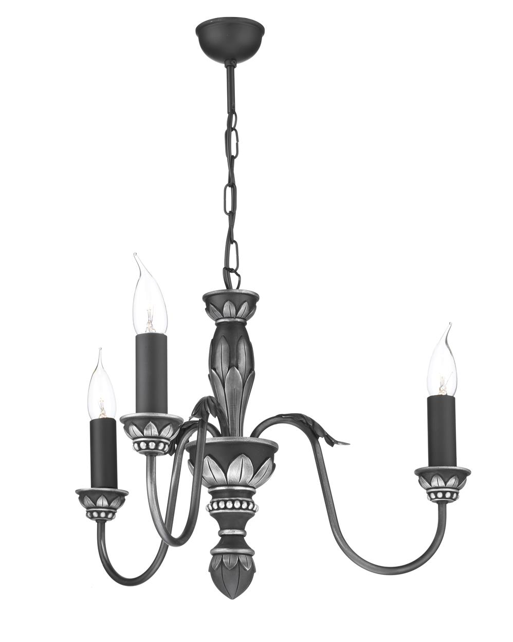 David Hunt Lighting OX3 Oxford 3 Light Pendant in Antique Pewter (Fitting Only)