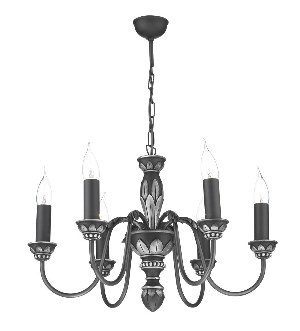 David Hunt Lighting OX6 Oxford 6 Light Pendant in Antique Pewter (Fitting Only)