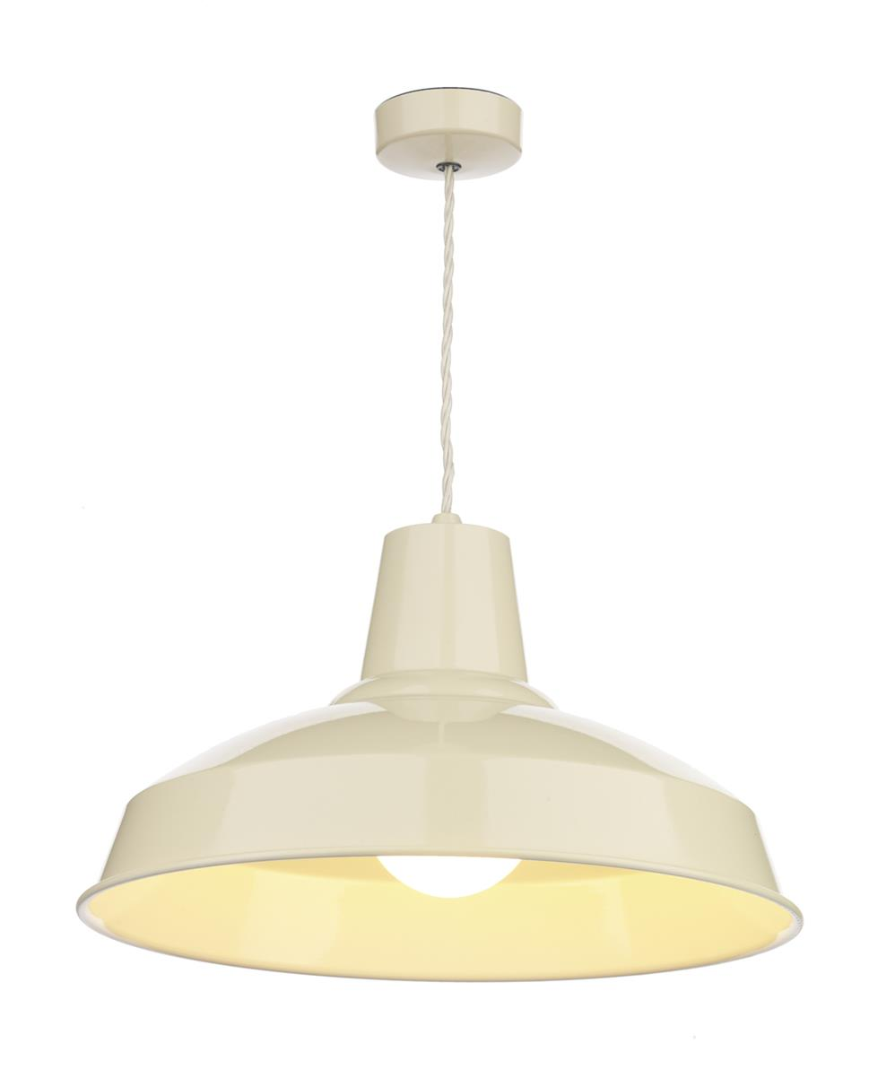 David Hunt Lighting REC0133 Reclamation 1 Light Pendant in Cream