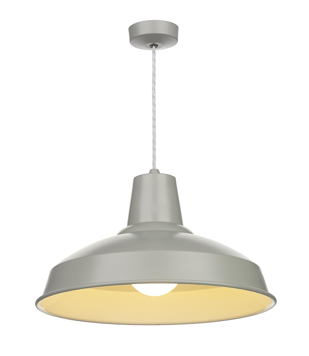 David Hunt Lighting REC0139 Reclamation 1 Light Pendant in Powder Grey