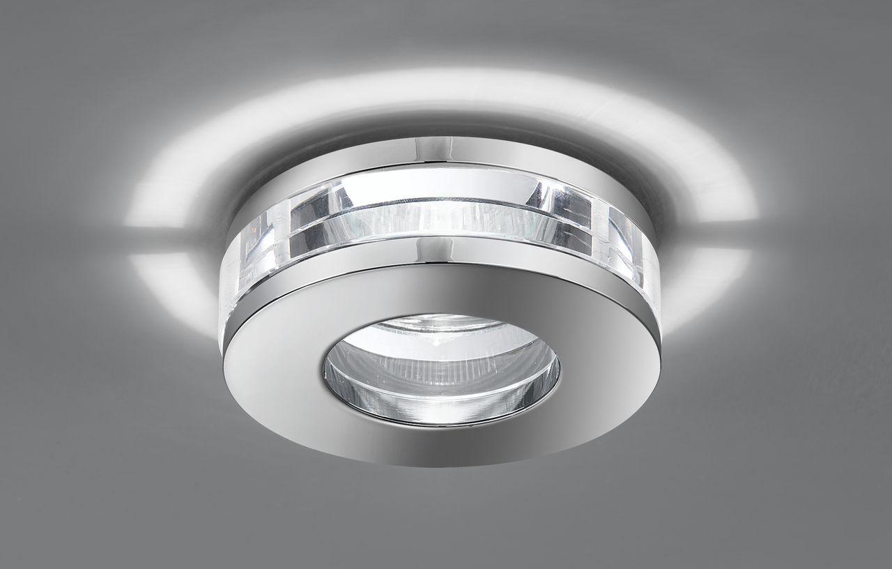 Rf266 Recessed Downlight Low Voltage Chrome And Glass