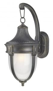 RIC3235 Richmond Small Outdoor Down Wall Light in Black/Gold