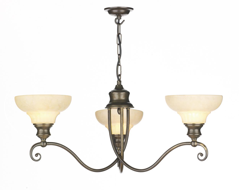 David Hunt Lighting ST311 Stratford 3 Light Pendant in Aged Brass