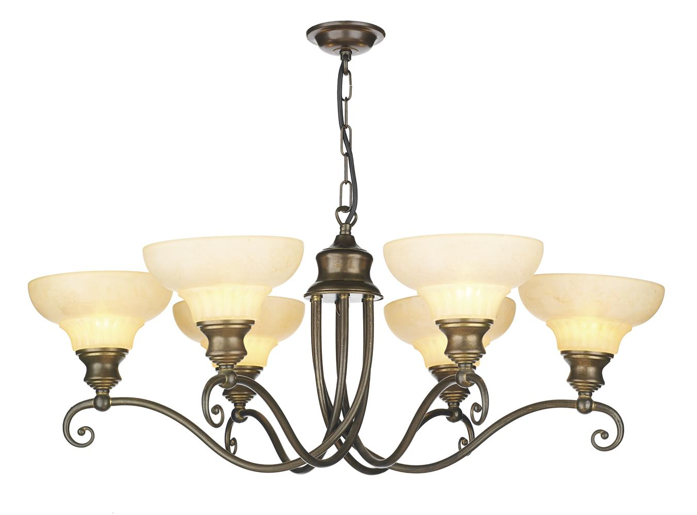 David Hunt Lighting ST611 Stratford 6 Light Pendant in Aged Brass