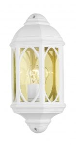 TEN212 Tenby Outdoor Half Wall Lantern in White