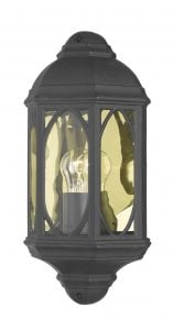 TEN2122 Tenby Outdoor Half Wall Lantern in Black