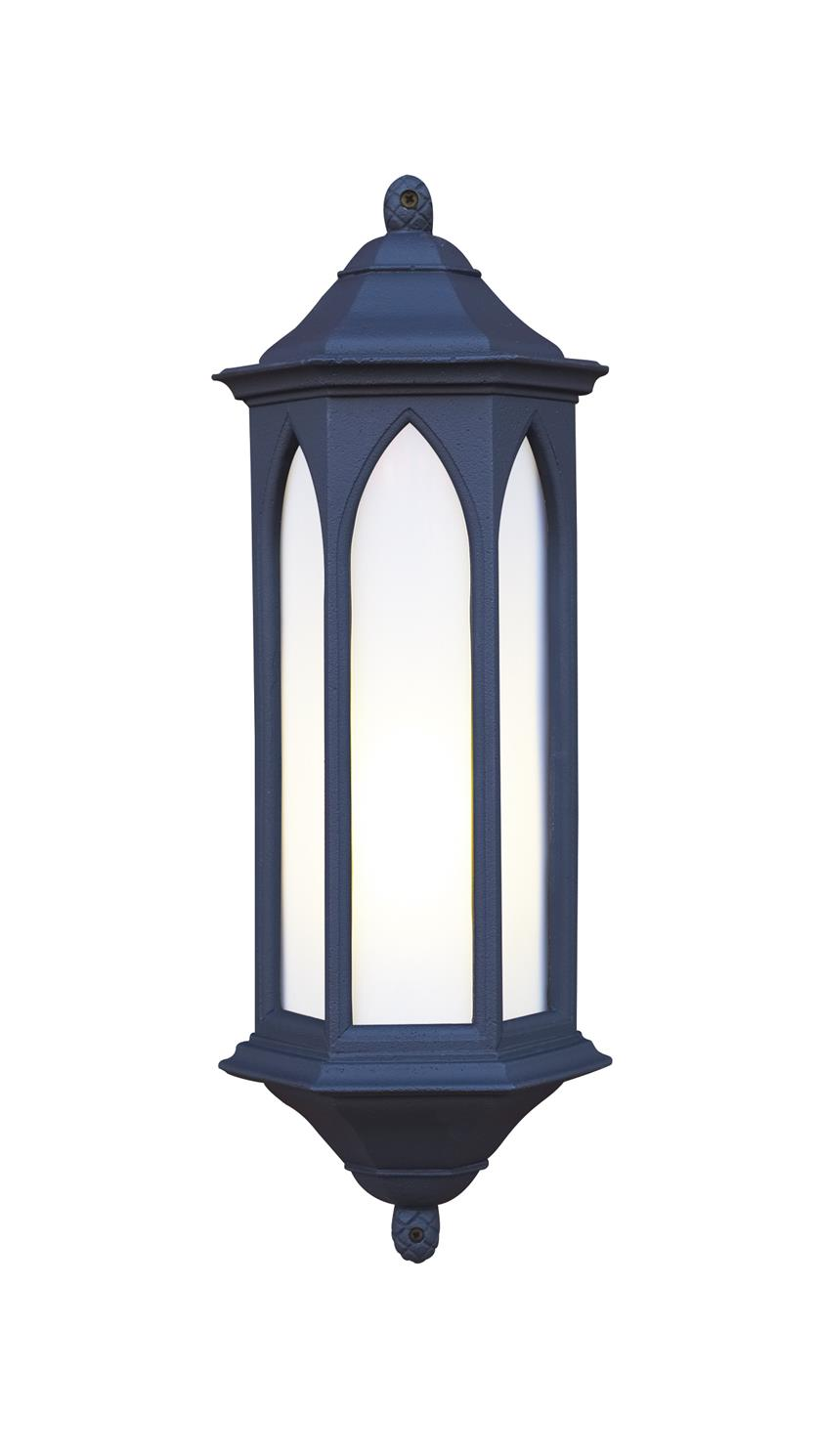 David Hunt Lighting WR22/LE Winchester Outdoor Half Lantern in Black Stone