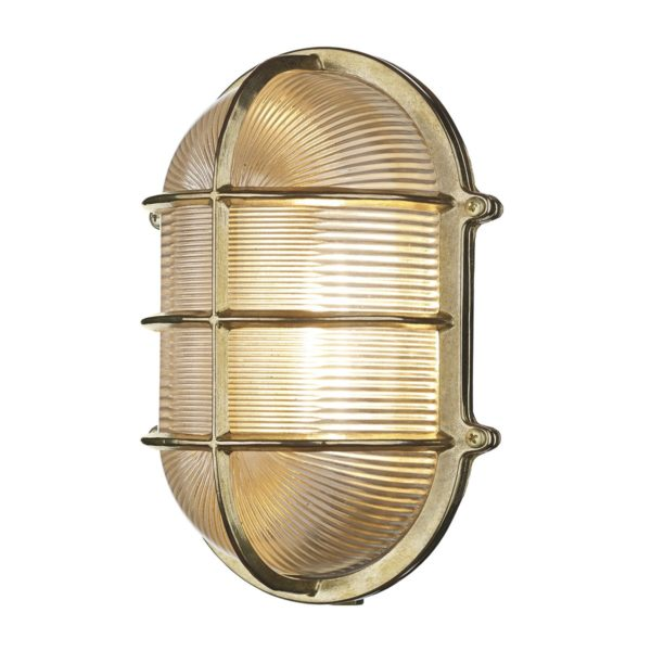 David Hunt Lighting ADM2140 Admiral 1 Light Large Oval Wall Light Brass