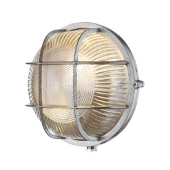 ADM5038 Admiral 1 Light Round Wall Light Nickel
