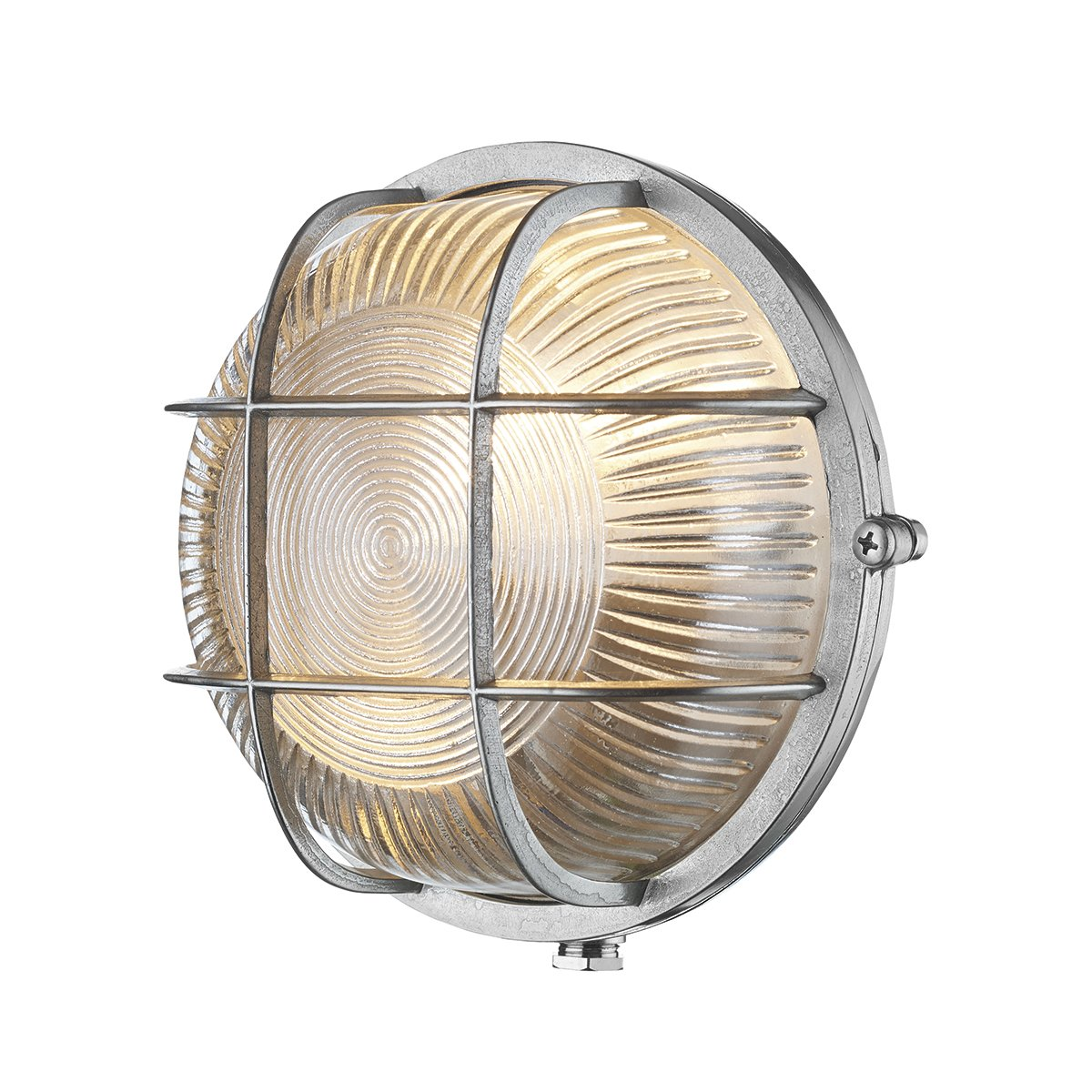 David Hunt Lighting ADM5038 Admiral 1 Light Round Wall Light Nickel
