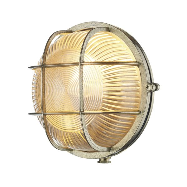 David Hunt Lighting ADM5040 Admiral 1 Light Round Wall Light Brass