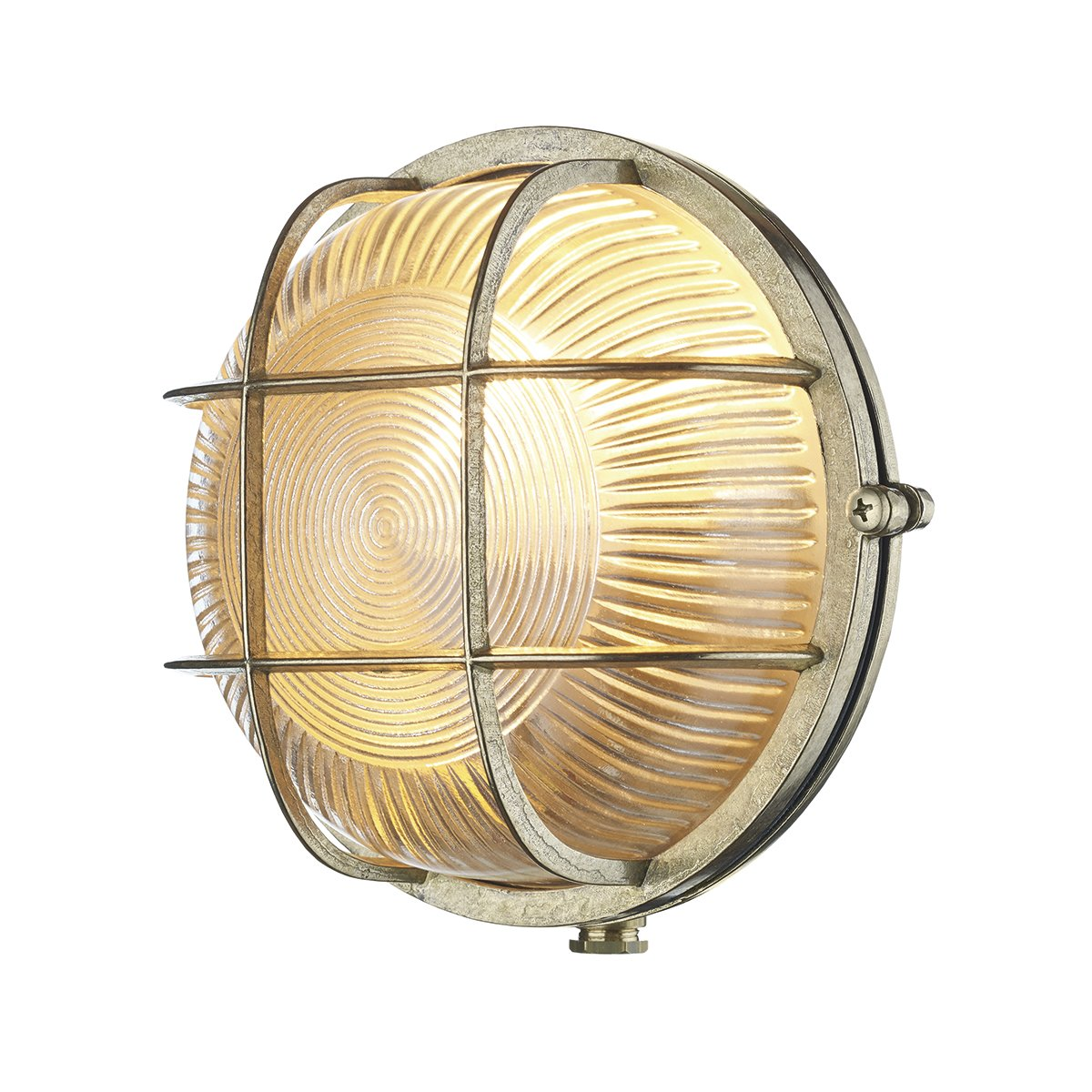 David Hunt Lighting ADM5040 Admiral 1 Light Round Wall Light Brass