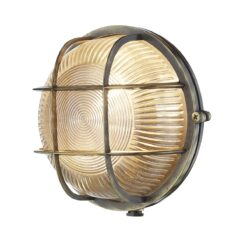 ADM5075 Admiral 1 Light Round Wall Light Antique Brass