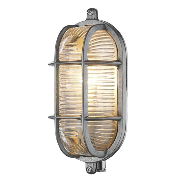 David Hunt Lighting ADM5238 Admiral 1 Light Small Oval Wall Light Nickel