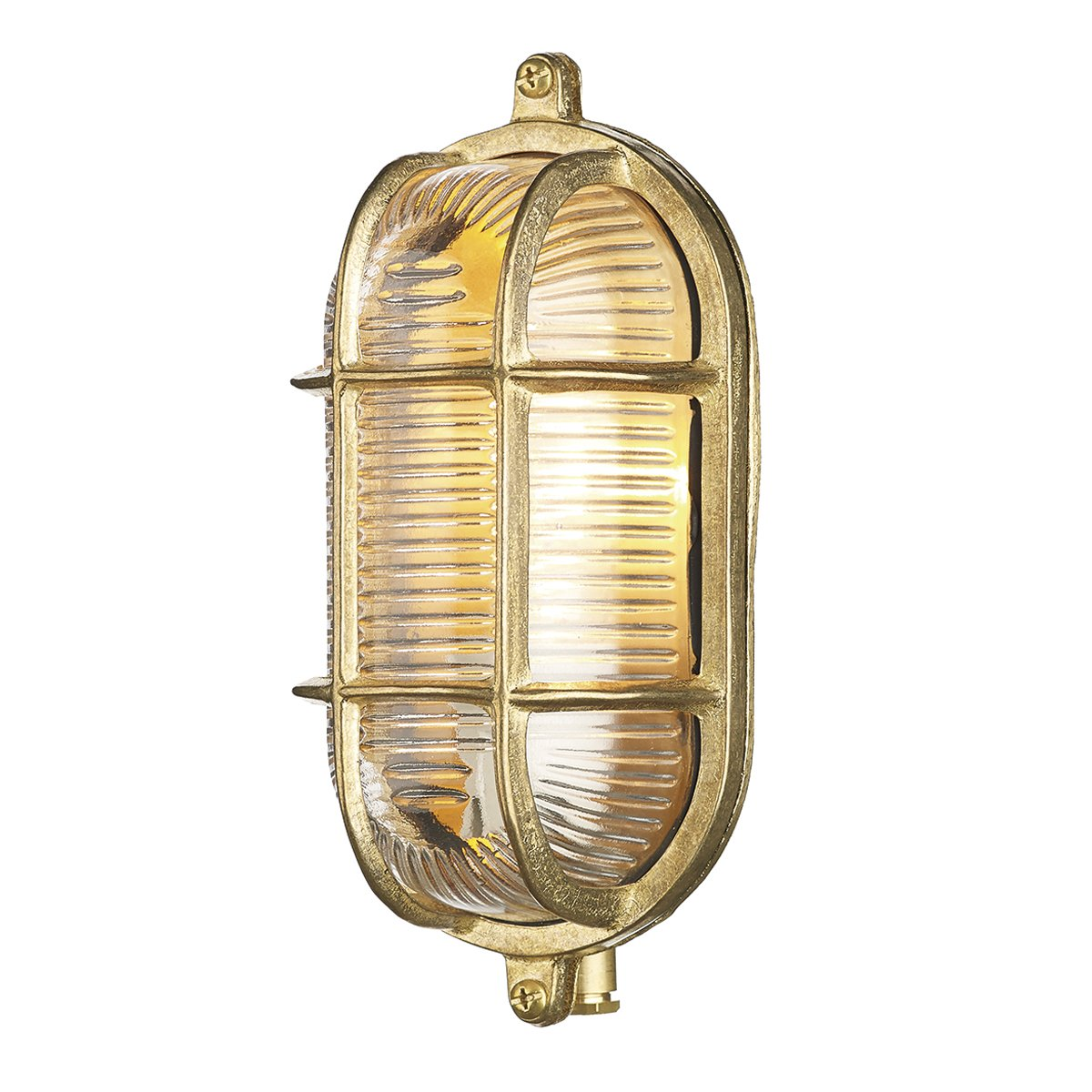 David Hunt Lighting ADM5238 Admiral 1 Light Small Oval Wall Light Nickel
