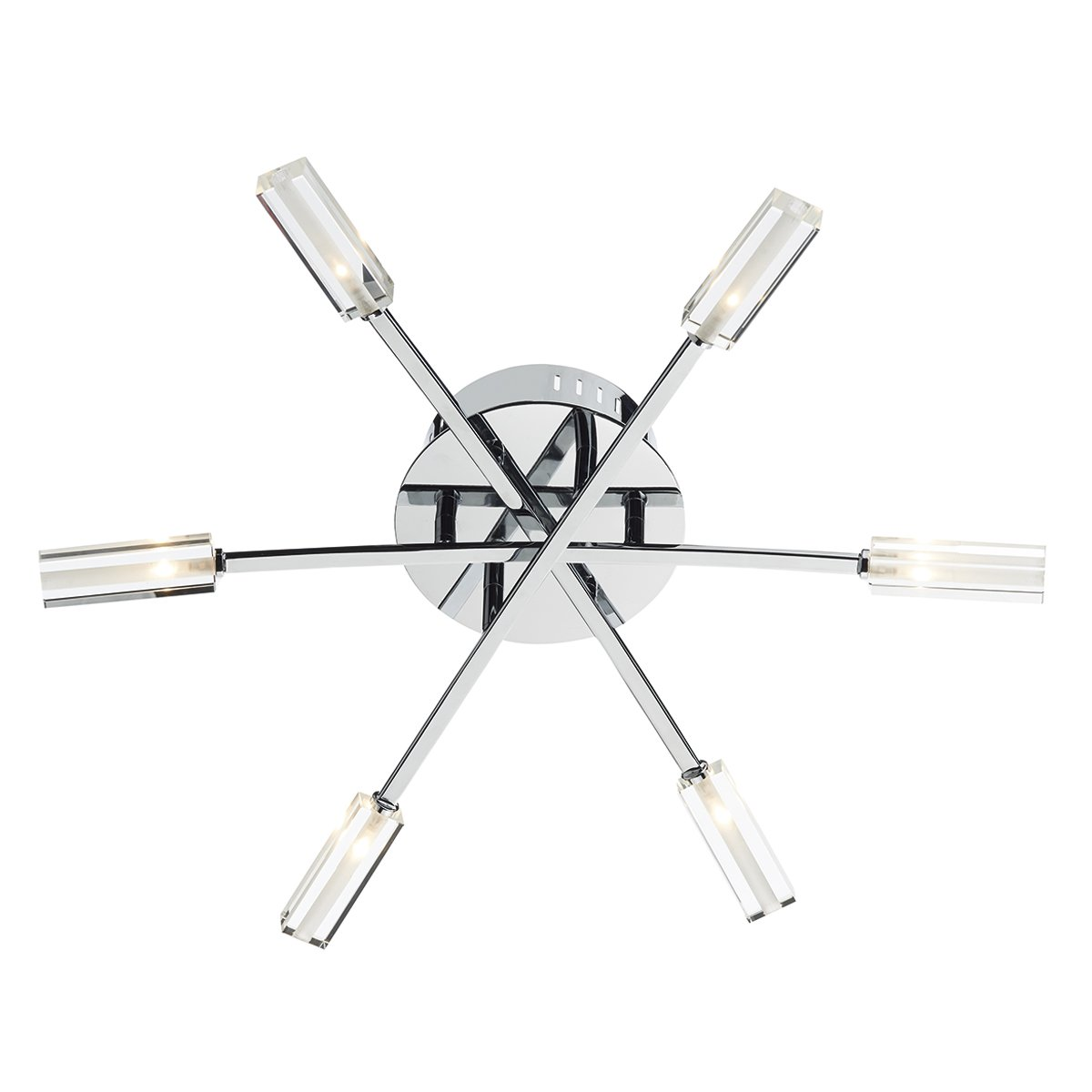 Dar ADV6450 Advent 6 Light Flush Fitting in Chrome