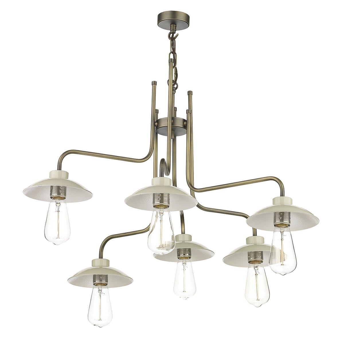 David Hunt Lighting AXE0633 Axel 6 Light Pendant Antique Brass
