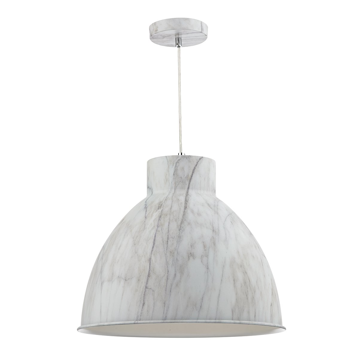 Dar BUF0155 Buffalo Single Pendant Marble Effect