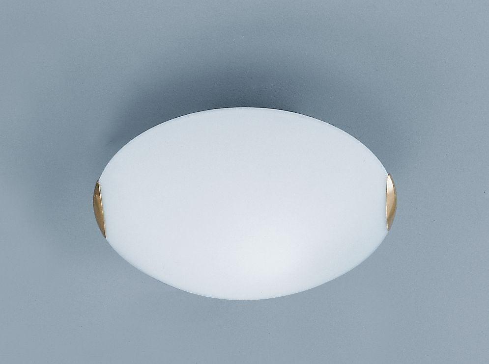 Cf5023 Medium Round Flush Fitting Brass And Glass Lighting Bug