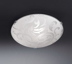 CF5619 Decorative flush ceiling light small, glass
