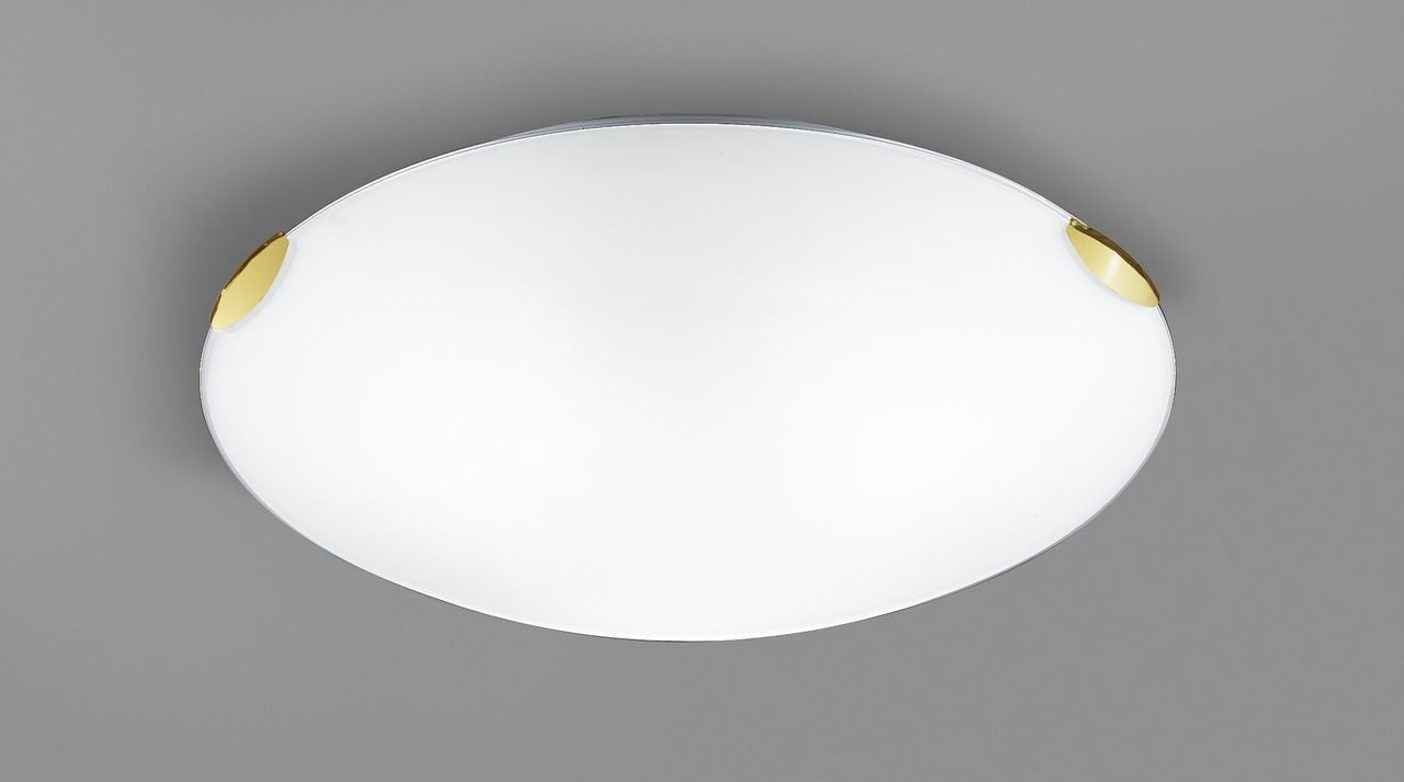 Cf5661 Large Round Flush Fitting Brass And Glass