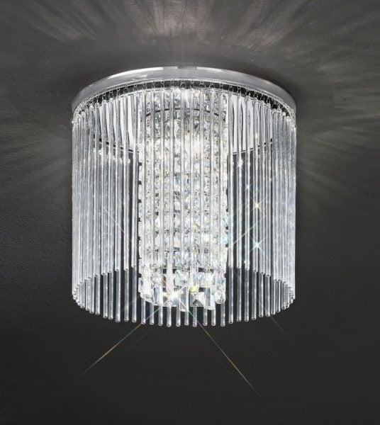 CF5724 Charisma single tier flush, chrome and crystal glass