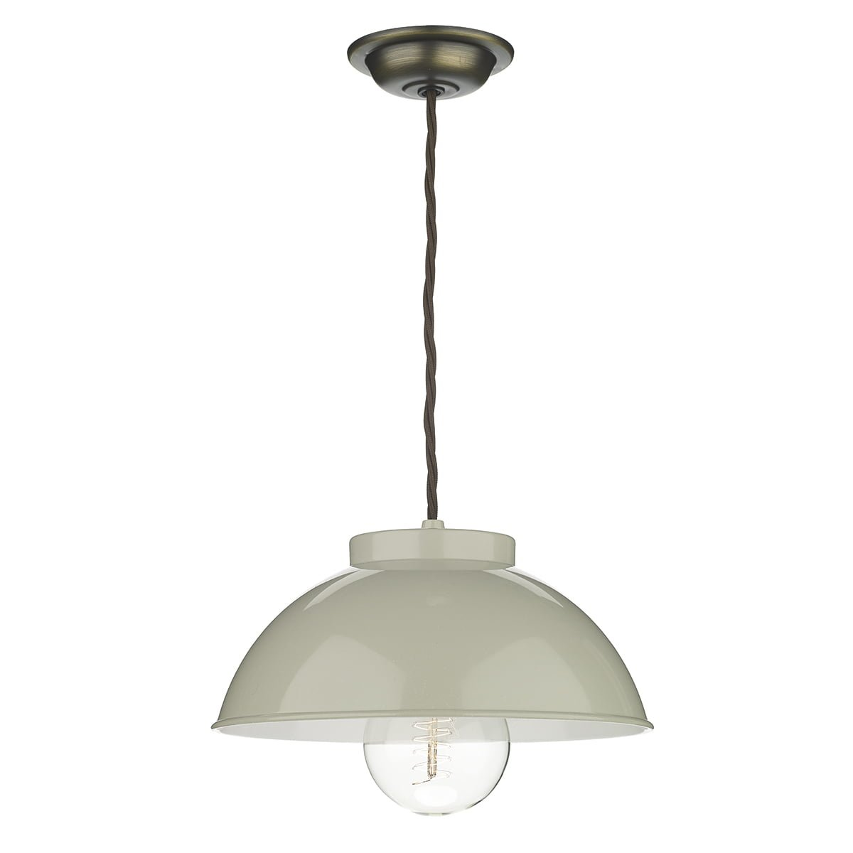 Dar COT012 Cotswold 1 Light Pendant in French Cream