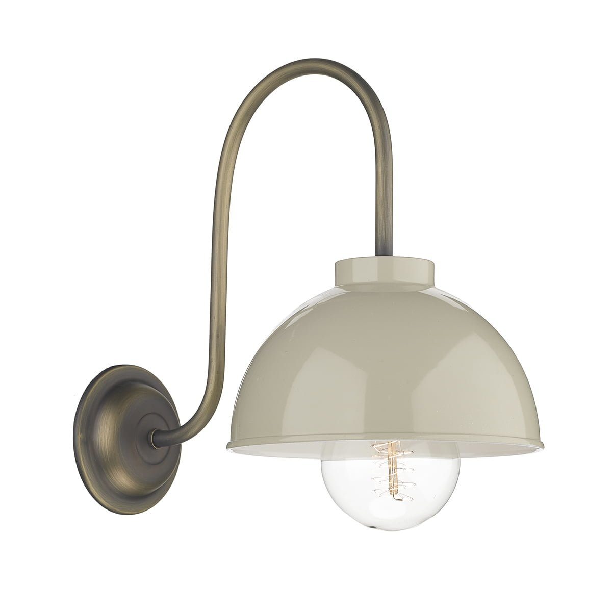David Hunt Lighting COT0712 Cotswold 1 Light Wall Light in French Cream
